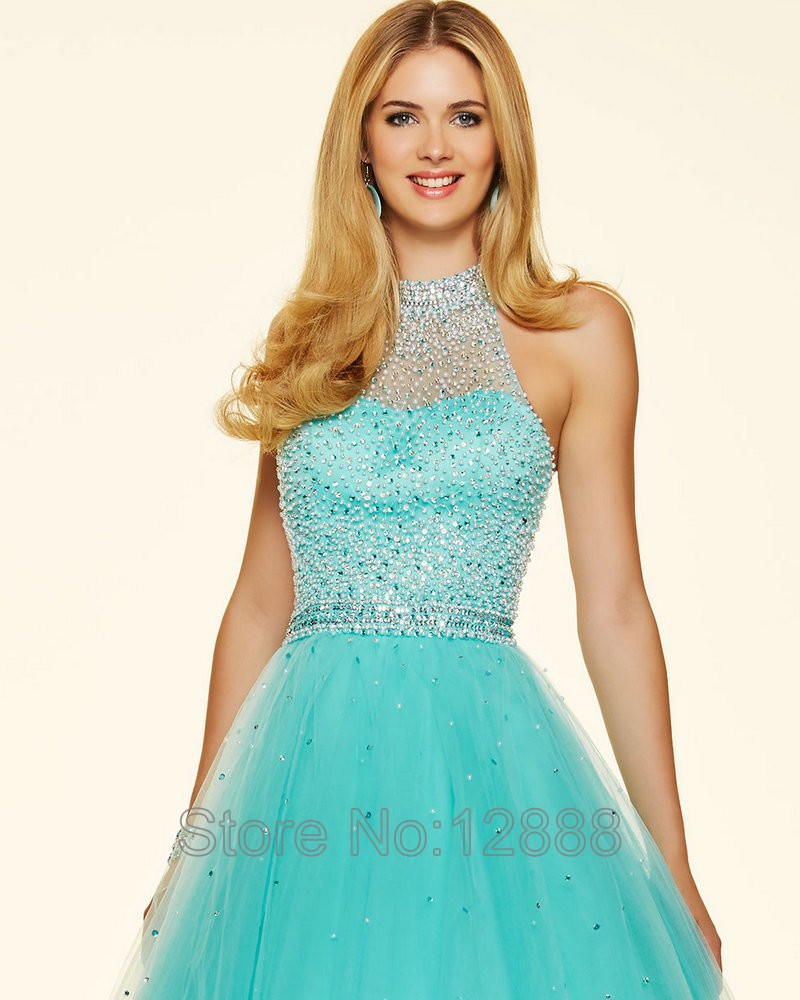Style 98096 Floor Length Aqua Color Dress Pucker Up Pink Tulle ...