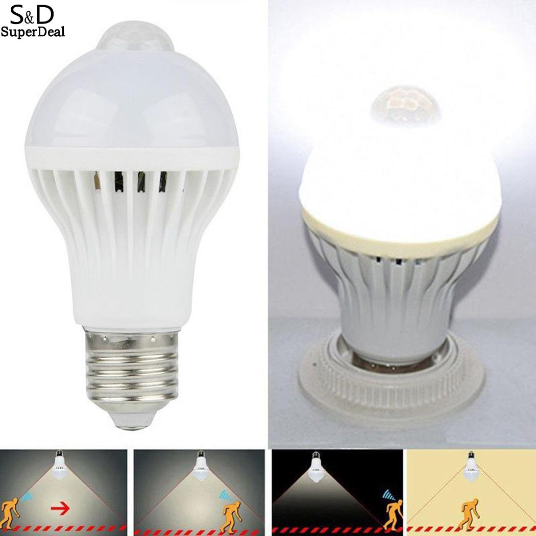 Motion 5W/7W/9W Sensor Light LED Bulb Indoor Outdoor Lighting Lamp