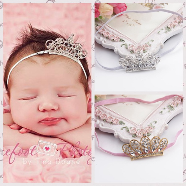 3872de3a735 2015 new arrival Girls crystal crown with thin headbands kids Photo props  hair accessory 10ps lot free shipping