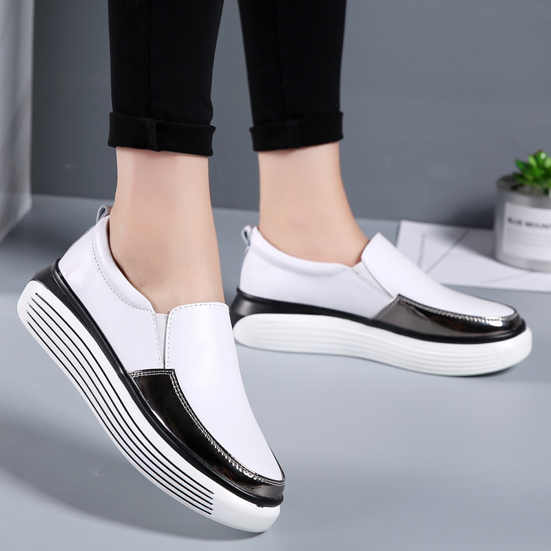 Fujin Brand Women Casual loafers Breathable Summer Flat Shoes Woman Slip on Casual Shoes New Zapatillas Flats Shoes Good Quality in Women 39 s Flats from Shoes