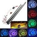 2x90 cm 54 RGB Led + 2x120 CM 72 RGB Led DC 12 V 12 W LLEVÓ la Luz Del Coche LED Tira de Luz de Lámpara de Control Remoto Inalámbrico y Sonido