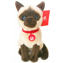 """28cm/11"""" Simulation Siamese Cats Plush Toys Thailand Noble Cat Stuffed Toys Dolls Kids Toys Pet Toy Christmas Gifts"""