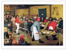 posters wall art canvas painting print Imagich Top 100 prints Peasant Wedding Bauernhochzeit  1568  By Pieter Bruegel the Elder top posters холст top posters 50х75х2см g 1044h