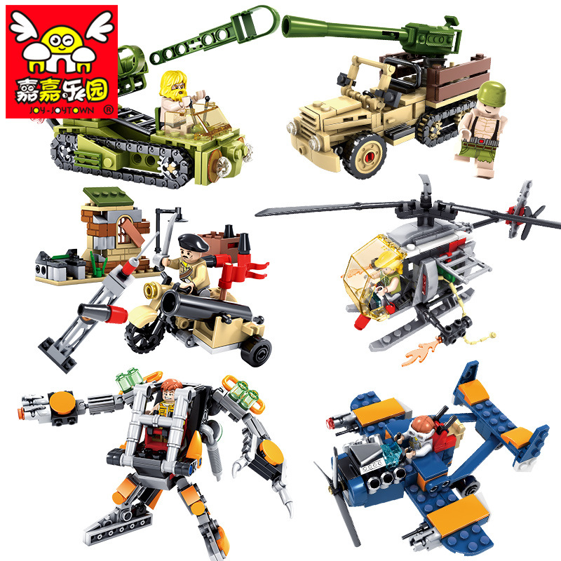 798pcs Military Building Blocks Army Tanks Compatible With Legoe Military Weapons Aircraft DIY Educational Toys for Kids Bricks