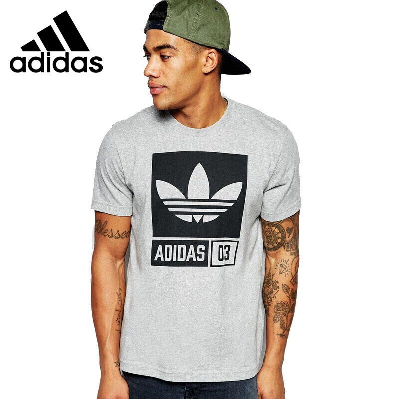 Original New Arrival  Adidas Originals TR GRP TEE Men's  T-shirts  short sleeve Sportswear