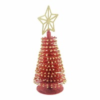 9 Merry Christmas Tabletop Decorative Plastic Small Tree With Glitter Tree Topper Artificial Christmas Tree Desk