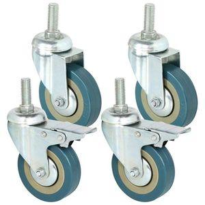 Image 1 - 4 PCS Hot Sale Heavy Duty 75mm Swivel Castor with Brake Trolley Casters wheels for Furniture