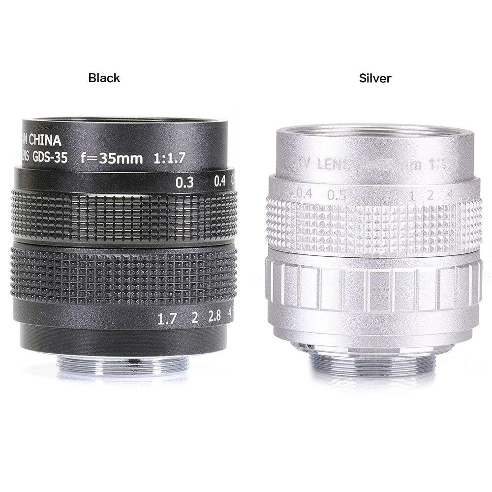 35mm f/1.7 C montaje CCTV 2/3