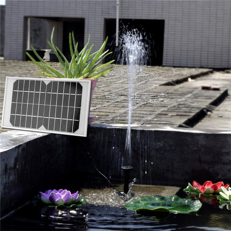 Mini Solar Power Panel Landscape Pool Solar Pump Garden Fountains Solar Power Decorative Fountain DC 12V 5W 220L/H Water Pump