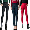 Pattern Pencil Pants Women Plus Size 2016 Winter Fashion Female 80% Duck Down Pants Dot Casual Warm Slim Thick Trousers Solid