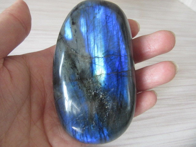 Free Shipping  Natural Labradorite Crystal Rough Polished Rock From Madagascar G006