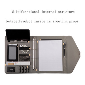 Image 4 - Fichario Binder A4 Document File Folder With Lock Business Organizer File Cabinet Holder Manager Padfolio Password Briefcase Bag