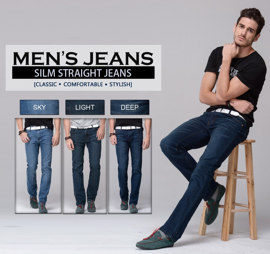 de1fdc54cdfc Men jeans stretch denim skinny jeans pencil pants skinny leg fit slim  straight trousers tight pants USD 36.35 piece