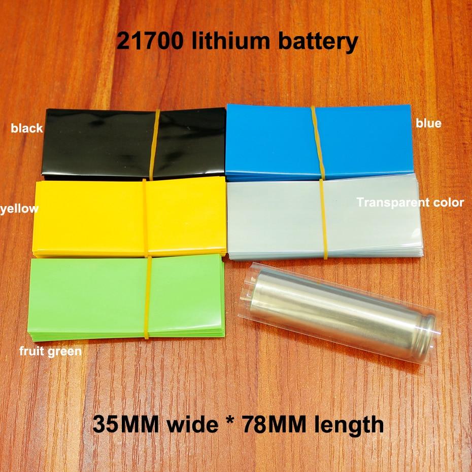 100 шт./лот 21700 литиевая батарея пленка сумка-рукав термоусадочная пленка внешняя упаковка-тубус пленка