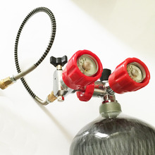 2017China product 6.8l 30Mpa 4500psi SCUBA carbon fiber air cylinder & valve & fill station for small paintball tank refilling E