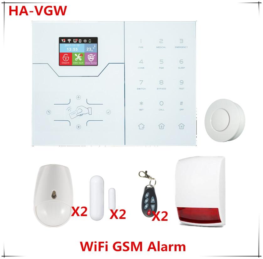 Best сигнализации Беспроводной Wi Fi сигнал Системы GSM GPRS домашний охранной сигнализации Системы собран в Температура Сенсор