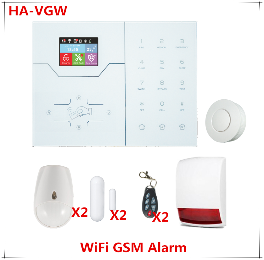 Best Alarm Wireless Wifi Alarm System GSM GPRS Home Security Alarm system built in Temperature Sensor