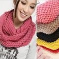 Осень и зима сладкий сплошной цвет кукурузы пряжи вязаный шарф глушитель шарф воротники