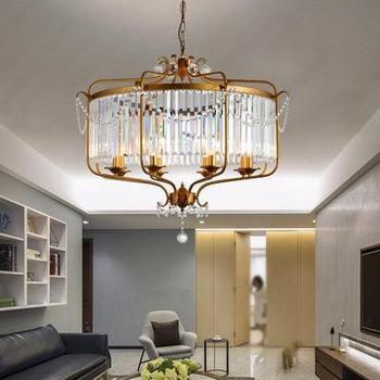 Moderne Luxus E14 Gold Schwarz Eisen Kristall Glas Led Kronleuchter  Leuchten für Loft Treppe Wohnzimmer Bad Lampe