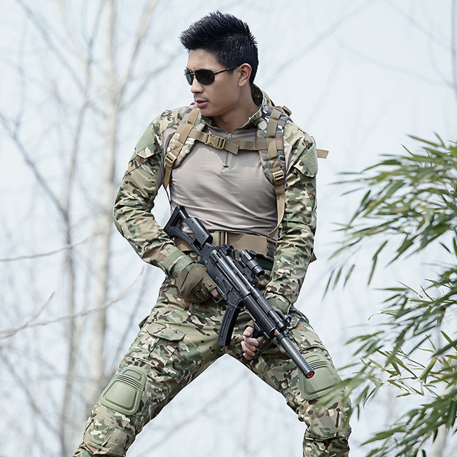 65517747082bd Hunting Clothes Hunter Outfit Tactical Gear Softshell Camouflage Suit Men  Army Camo Clothes Military Hunting Suit