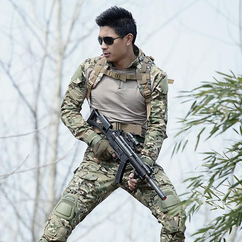 Jakt Kläder Outfit Tactical Gear Softshell Camouflage Suit Outdoors - Sportkläder och accessoarer