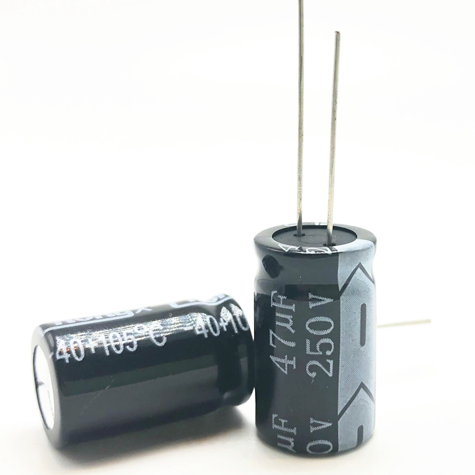 12pcs/lot 250v 47uf  13*20 20% RADIAL Aluminum Electrolytic Capacitor 47000NF 20%