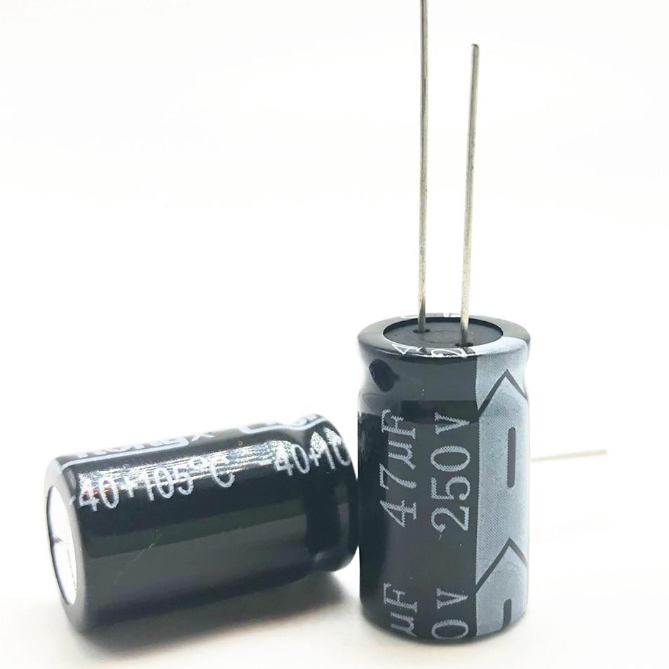 12pcs/lot 250v 47uf  13*20 20% RADIAL Aluminum Electrolytic Capacitor 47000NF 20%