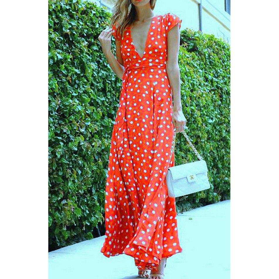 SSLine Sexy Summer Long Maxi Dress Women 2018 Casual beach Sundress ... deef4f197
