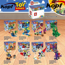 Toy Story Buzz Light Year Emperor Zurg Squeezy Aliens Woody Bricks Set font b Model b
