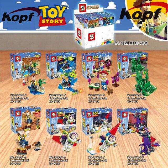 Toy Story Buzz Lightyear años Emperador Zurg squeezy Aliens Woody ladrillos  set Model building Blocs colección 8176ef82441