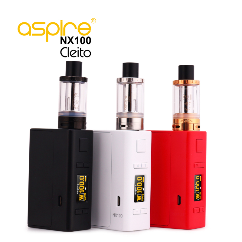 Electronic Cigarette Kit Aspire Cleito Vape Tank  Atomizer 3.5ML + Aspire NX100 Box Mod Electronic Cigarette TC Mod Vaporizer augvape merlin rta tank atomizer 23mm 4ml single coil deck dual airflow vape vaporizer electronic cigarette atomizer tank