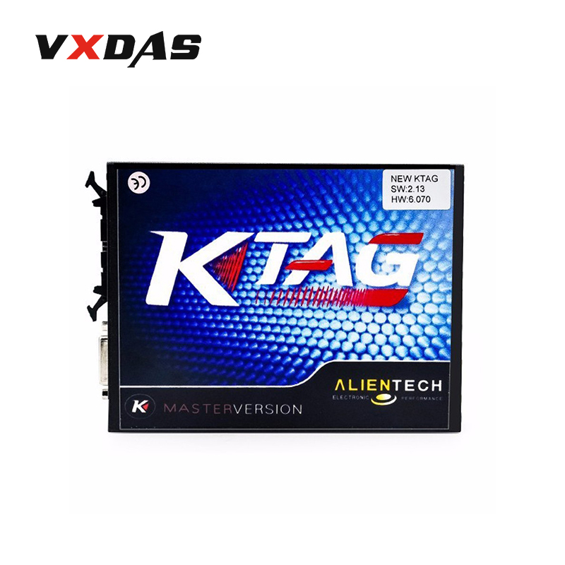 KTAG V2.13 V6.070 ECU Programmer Tool K TAG ECU Programming Tool Master K-TAG ECU Chip Turning Without Token limited DHL Free