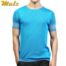 Super quality T shirt men Fashion trends knitted male summer Tops Tees Cool breathable quick dry Tshirt brand clothing blue 3XL