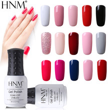 HNM 8ml UV Del Gel Del Chiodo Si Impregna fuori dal Polacco Del Gel 58 Colori GelLak Hybrid Vernice Semi Permanente Gelpolish Fortunato dello smalto Del Gel inchiostro(China)