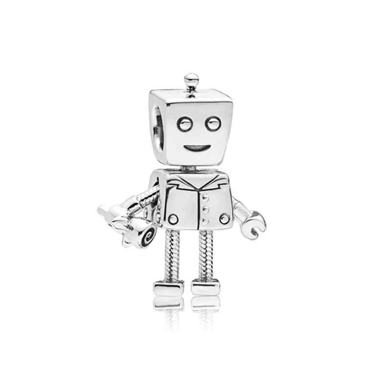 Moda Gümüş Kaplama Boncuk Charm Akıllı Rob Aşk Bella Takılar Bot Fit Pandora Bilezik & Bileklik DIY Kadınlar Takı Yapımı 2018