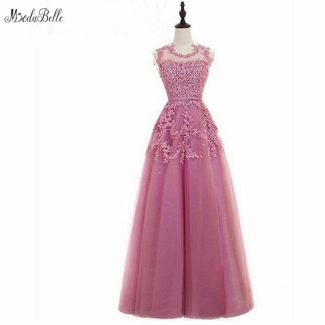 e4869d5ae58 Modabelle Robe De soirée Courte longue rose Robe De bal avec Appliques De  dentelle perlée robes