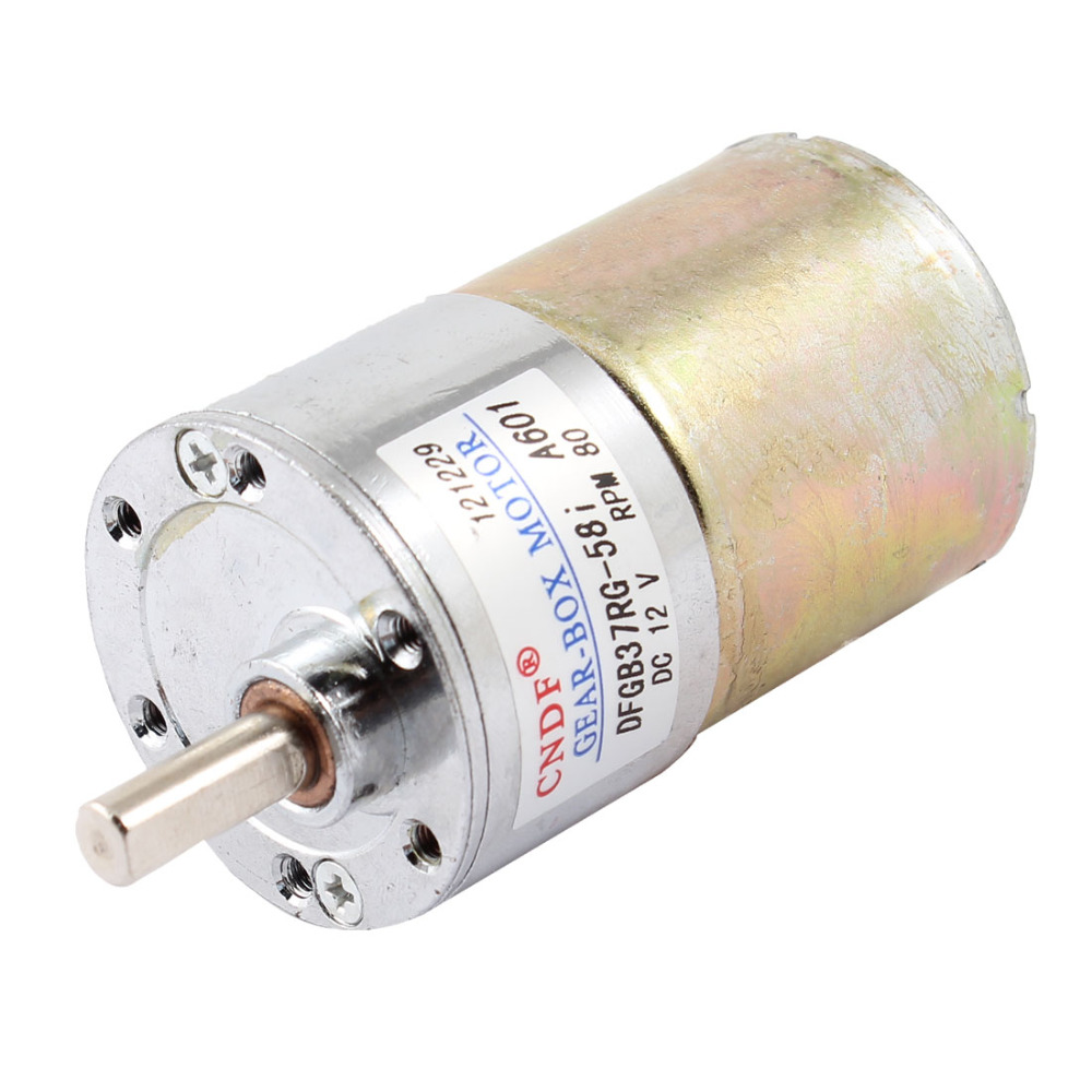 цена на UXCELL DC 12V 80RPM 6mm Dia Shaft Magnetic Electric Gear Box Motor Replacement for Treatment Apparatus