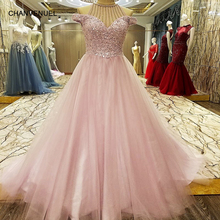 LS7333 Abendkleider Arabic Evening Gowns Dresses Rhinestone Arabic Long Evening Dresses Formal Dresses Evening Wear(China)