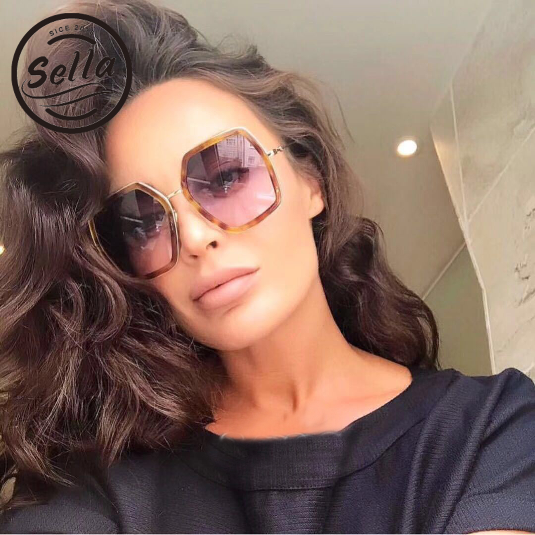 780a1eb28de1 Detail Feedback Questions about Sella New Arrival Polygon Oversized Women  Sunglasses Summer Trending Hexagon Colorful Frame Men Sun Glasses Brand  Designer ...