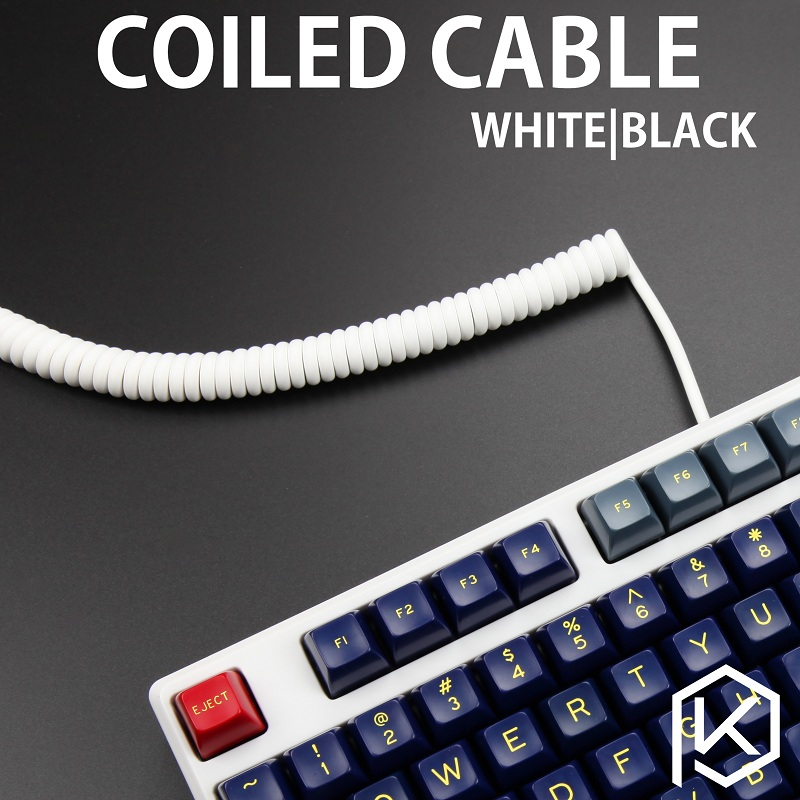 coliled cable wire mechanical keyboard gh60 usb cable mini usb port for poker 2 gh60 keyboard. Black Bedroom Furniture Sets. Home Design Ideas
