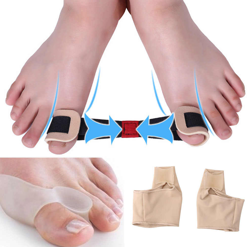 6 PCS Bunion Corrector & Bunion Relief Protector Mouwen Kit-Treat Pijn in Hallux Valgus Teen Afscheiders Spacers Stijltangen