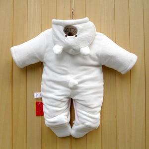 Image 3 - 신생아 아기 Rompers 만화 후드 겨울 아기 의류 두꺼운 면화 아기 소녀 의상 아기 소년 점프 슈트 유아 의류