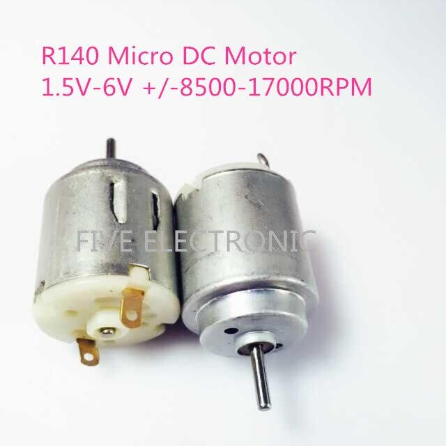 Livraison gratuite! Micro moteur à courant continu R140 , 1.5V-6V,+/-8500-17000 tr/min, utilisation pour jouets sexuels électriques bâton de Massage bricolage jouets électriques