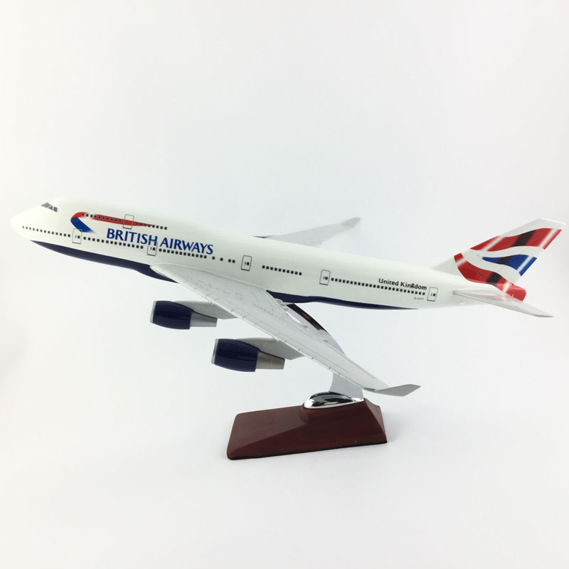 BRITISH AIRLINERS 45CM BOEING 747 BRITISH AIRWAYS AIRLINES MODEL PLANE AIRCRAFT TOYS FOR CHILDREN BIRTHDAY GIFTS O new gjbaw1416 b777 200er british airways g ymmr 1 400 geminijets commercial jetliners plane model hobby