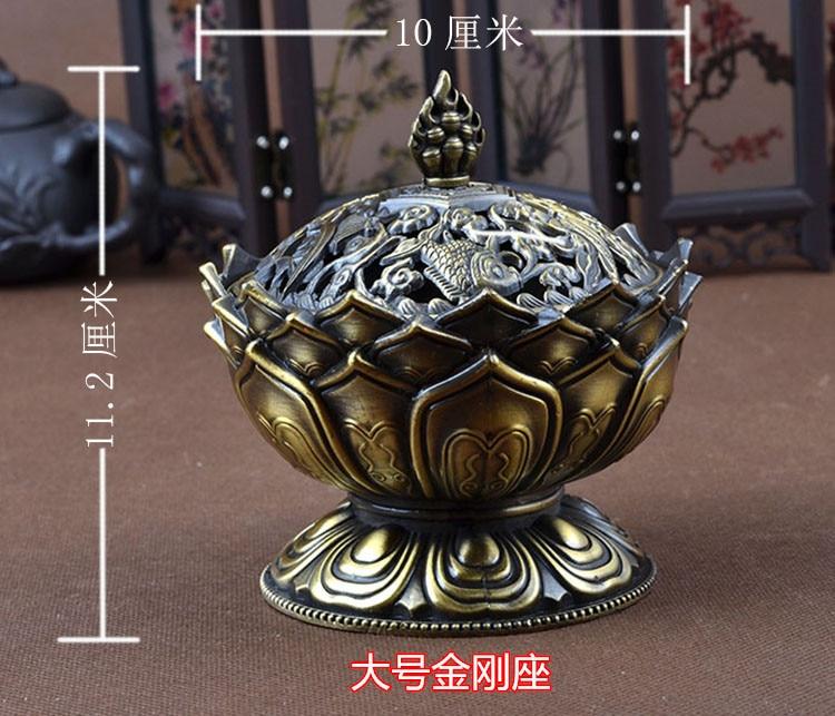 Lotus благоприятный лотоса типа пожарного для фимиам испаритель пластина для порошок туба, Тантрический