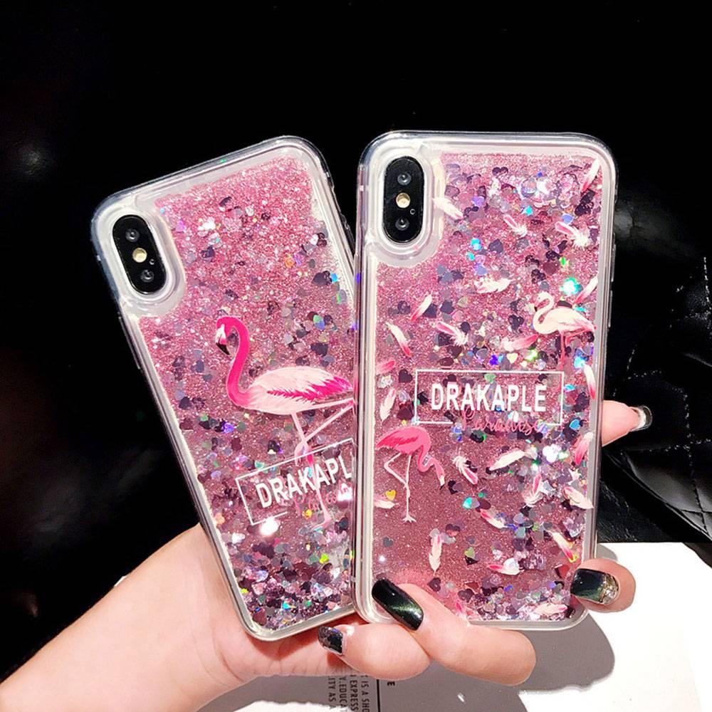 KISSCASE Flamingo Drijfzand Telefoon Case Voor Honor V20 8X MAX 10 9 Lite Pro Soft TPU Case Voor HUAWEI P30 p20 Mate 20 10 Lite Funda - 2
