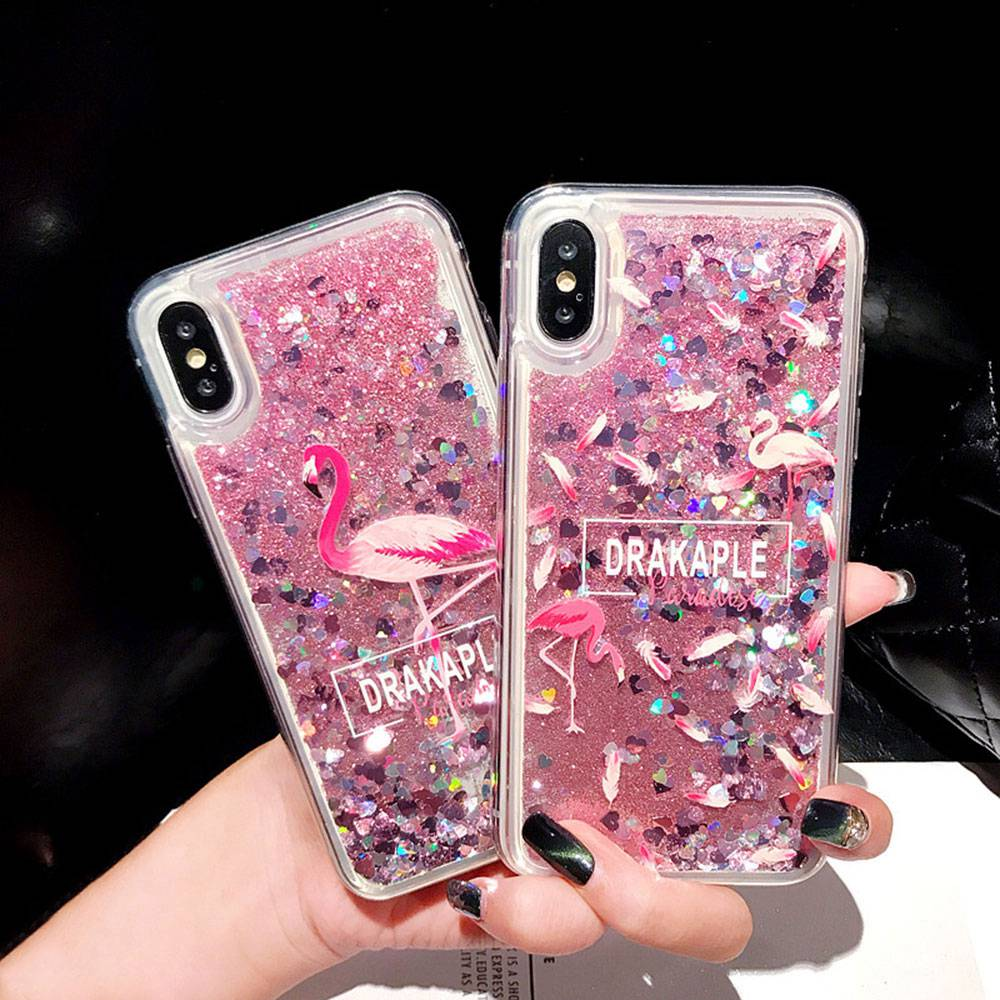 KISSCASE Flamingo Quicksand Phone Case For Honor V20 8X MAX 10 9 Lite Pro Soft TPU Case For HUAWEI P30 P20 Mate 20 10 Lite Funda