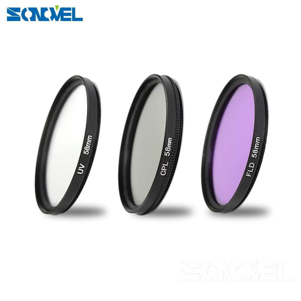 55mm UV CPL FLD Lens Filter Kit pour Nikon D5600 D5500 D5300 D5200 D5100 D3200 D3400 D3300 D3100 D750 Avec AF-P DX 18-55mm Objectif