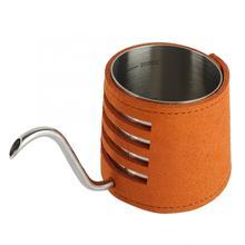 Кофейник, набор влагоотделитель длинный горшок Ручная стирка кофе машина Подарочная коробка(коричневый набор) maquina capuchino Hot