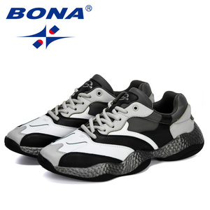 Image 3 - BONA 2019 New Adult Men Sneakers Spring Autumn Breathable Krasovki Shoes Trendy Casual Shoes Male Tenis Masculino Man Footwear